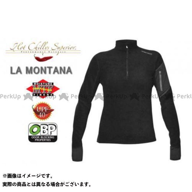 【エントリーで更にP5倍】HOT CHILLYS ラ モンタナ 極寒地仕様のベースレイヤー ジップアップシャツ レディース HC4032 カラー:ブラック サイズ:XS ホットチリーズ