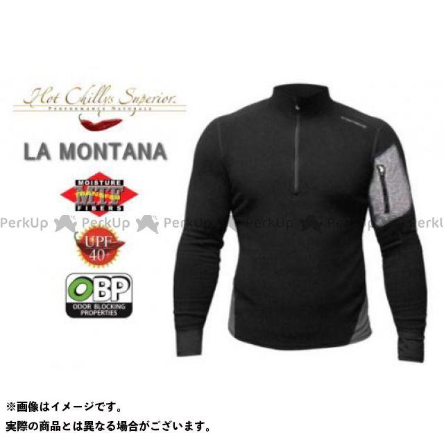 【エントリーで最大P21倍】HOT CHILLYS ラ モンタナ 極寒地仕様のベースレイヤー ジップアップシャツ メンズ HC4033 カラー:ブラック/グラニット サイズ:S ホットチリーズ