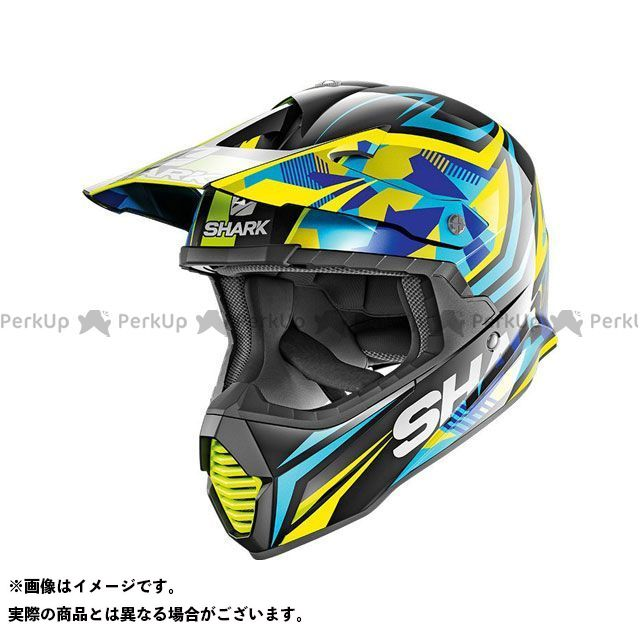 シャークヘルメット Varial Replica Tixier Helmet Black Blu Yellow サイズ:L SHARK HELMETS