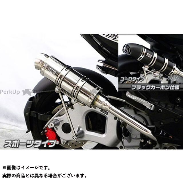 ウイルズウィン G-MAX 125 G-MAX125用 ロイヤルマフラー スポーツタイプ O2センサー取付口装備 オプション:オプションB+C WirusWin