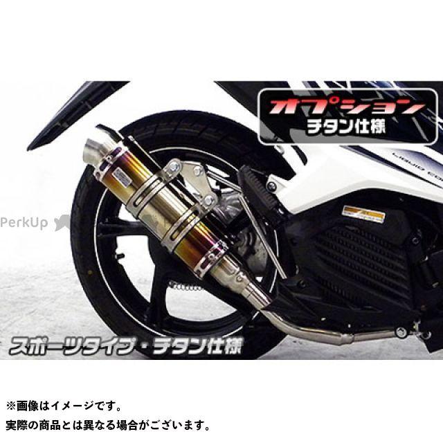 ウイルズウィン ミオ Mio125i/125RR用 ロイヤルマフラー スポーツタイプ オプション:オプションB+D WirusWin