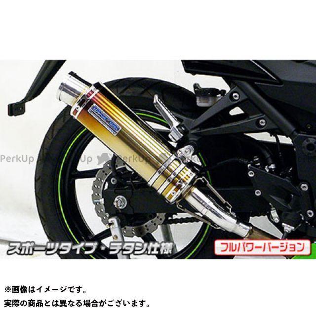 ウイルズウィン ニンジャ250R Ninja250R(JBK-EX250K)用スリップオンマフラー スポーツタイプ フルパワーバージョン サイレンサー:チタン仕様 WirusWin
