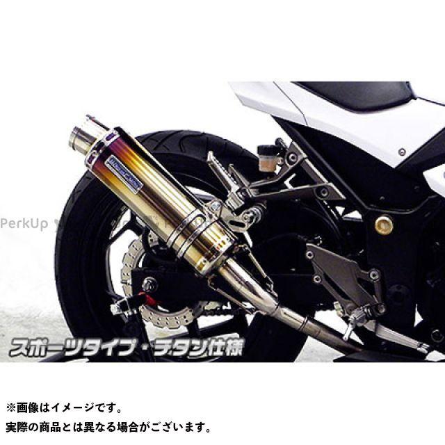 ウイルズウィン ニンジャ250 Ninja250用 スリップオンマフラー スポーツタイプ チタン仕様 WirusWin