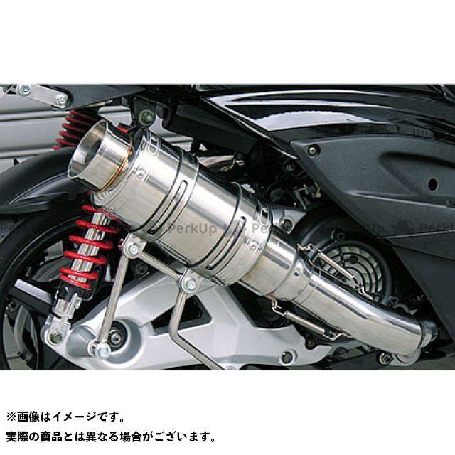 【エントリーで最大P21倍】ウイルズウィン シグナスX シグナスX(3型/SE465-1MS)用 アトミックショートマフラー バズーカータイプ O2センサー取付け口付 オプション:なし WirusWin