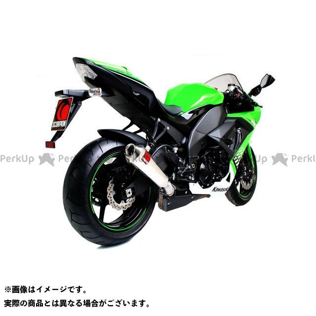 SCORPION ニンジャZX-10R Power Cone(パワーコン) スリップオン ステンレススリーブ Homologated Kawasaki Ninja ZX-10R 08-10 2 | EKA80SEO SCORPION