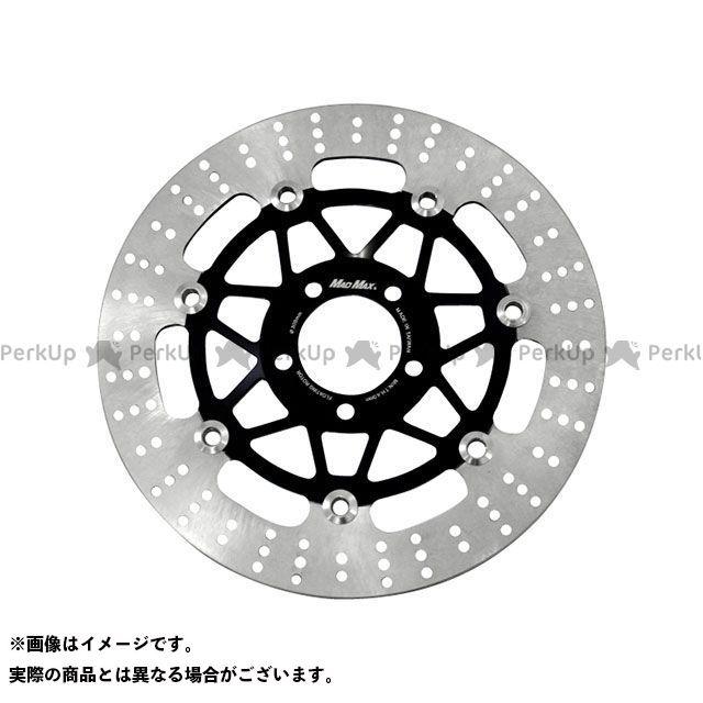 【エントリーで最大P21倍】マッドマックス ゼファー400/ZRX400 純正タイプ フロントディスクローター 左右2枚セット(ブラック) MADMAX
