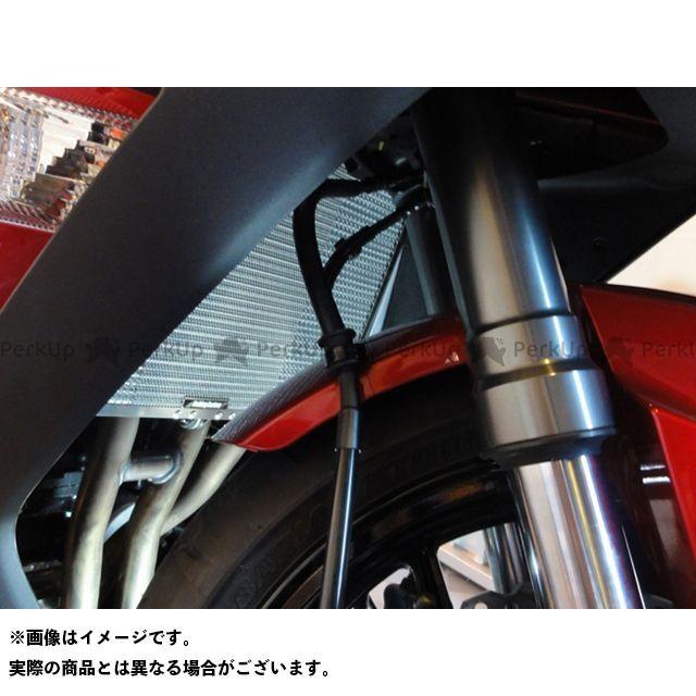 エッチングファクトリー ETCHING FACTORY ラジエター関連パーツ 冷却系 エッチングファクトリー ニンジャ1000・Z1000SX Ninja1000用 ラジエターコアガード 黒エンブレム ETCHING FACTORY