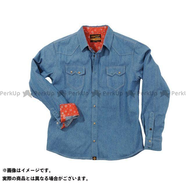 ヘンリービギンズ NHB1502 デニムシャツ カラー:ライトブルー サイズ:XL HenlyBegins