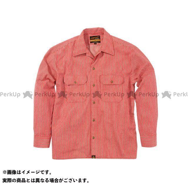 ヘンリービギンズ NHB1503 ワークシャツ カラー:ヒッコリーレッド サイズ:M HenlyBegins
