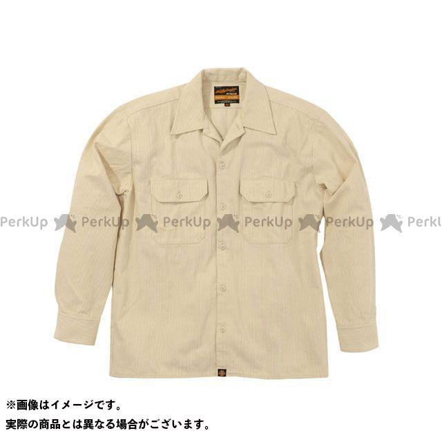 ヘンリービギンズ NHB1503 ワークシャツ カラー:ヒッコリーベージュ サイズ:M HenlyBegins