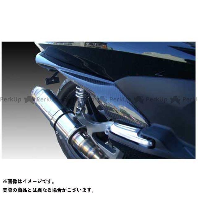 モトサービスマック PCX125 リアサイドフラップ ハーフカーボン【DRUG BOMBER】 カラー:未塗装 MOTO SERVICE MAC