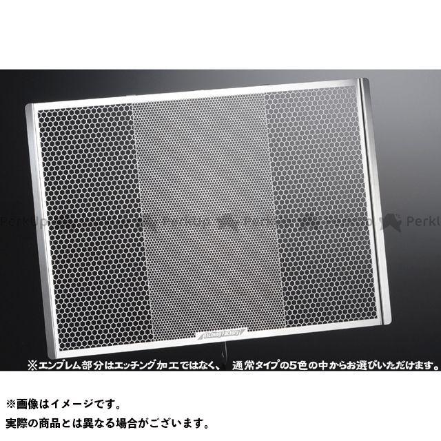 エッチングファクトリー YZF-R1 YZF-R1(09~14)用 ラジエターガード 青エンブレム ETCHING FACTORY