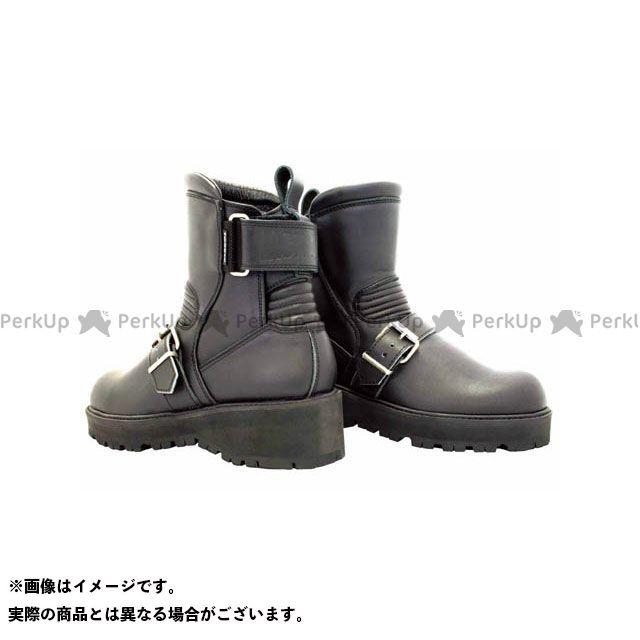 送料無料 KADOYA カドヤ ライディングブーツ K'S LEATHER No.4316 BLACK ANKLE-A(ブラック) 24.5cm