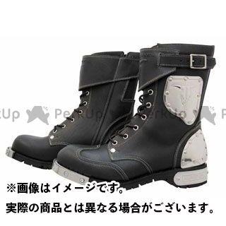 KADOYA カドヤ ライディングブーツ バイクシューズ・ブーツ KADOYA SHINYA REPLICA No.4512 HAMMER BOOTS SHORT ブラック×シルバー 25.0cm カドヤ