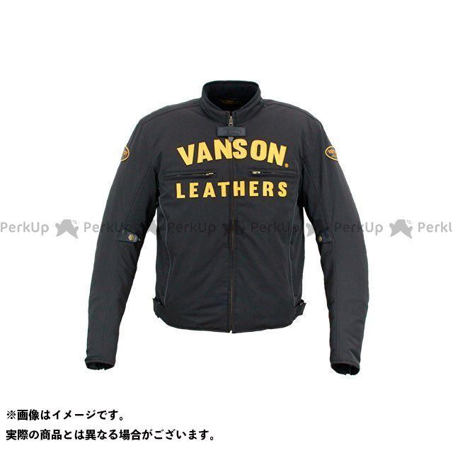 【無料雑誌付き】バンソン 2020-2021秋冬モデル VS20122W ナイロンジャケット(ブラック/イエロー) サイズ:3XL VANSON