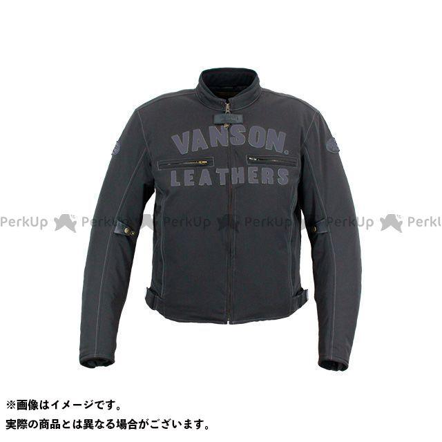 【無料雑誌付き】バンソン 2020-2021秋冬モデル VS20122W ナイロンジャケット(ブラック/ガンメタ) サイズ:L VANSON