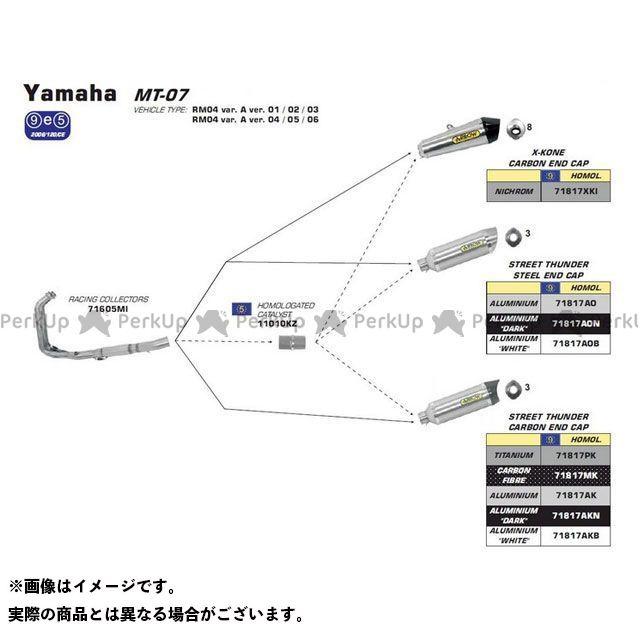 完璧 【エントリーで最大P19倍】アロー YAMAHA ALUMINIUM MT-07 14-16/TRACER 700 16 HOMOL. YAMAHA THUNDER ALUMINIUM DARK THUNDER SILENCER FOR COLLECTORS| 71817AON ARROW, トナーバッテリーのエコソル:0ddf4e41 --- villanergiz.com