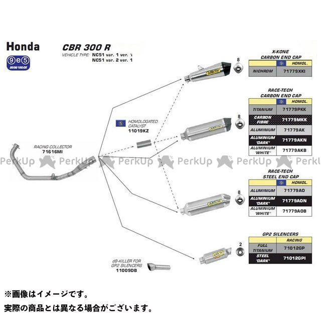 STAINLESS HONDA 300 COLLECTOR CBR 1:1 FOR | R 71616MI ARROW STEEL SILENCER アロー