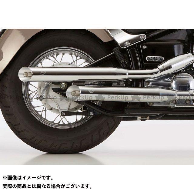 【無料雑誌付き】ファルコン ドラッグスター650 ドラッグスタークラシック650 Cromo Line 2 サイレンサー 右側 1マニフォールド付き (rear cylinder) シルバー | 65240441 Falcon