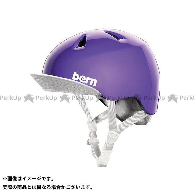 バーン 自転車 bern ヘルメット 自転車用品 無料雑誌付き 幼児用ヘルメット S 期間限定の激安セール Purple ニーナ お買い得品 サイズ:XS Gloss NINA 幼稚園年少対象
