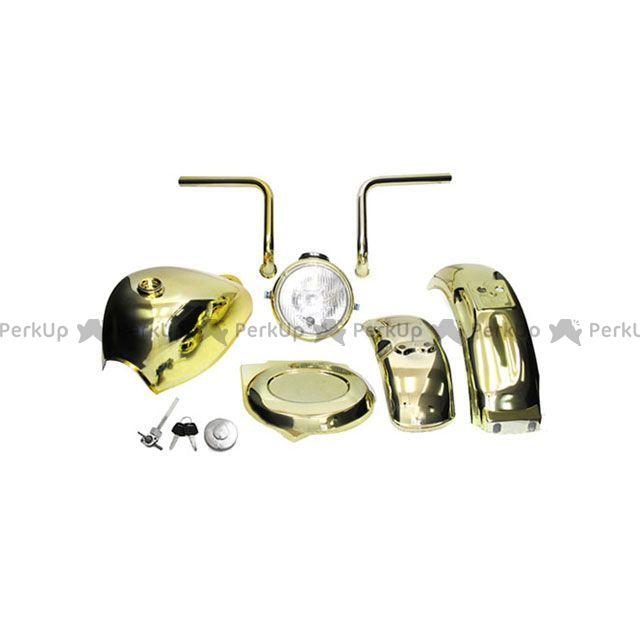 田中商会 モンキー 外装セット モンキー用 5Lゴールドメッキタンク、ハンドル&外装セット