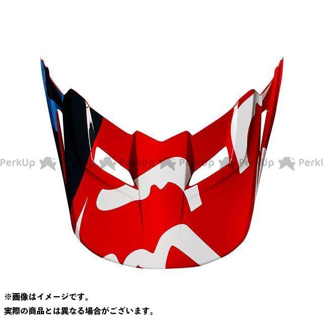 フォックス 代引き不可 日本全国 送料無料 FOX ヘルメットバイザー ヘルメット V1バイザー レッド 2XL RACE サイズ:XL