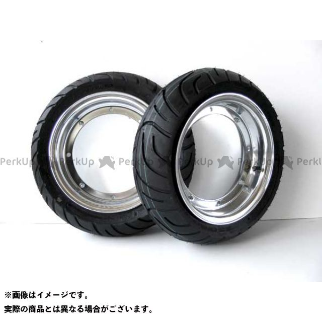 田中商会 シャリィ50 ダックス ホイール本体 10インチアルミホイール・タイヤセット 未組込 4本ハブ用 ホイール:4.0J 110/70-10