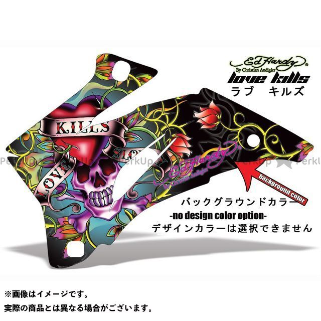 AMR 990アドベンチャー 専用グラフィック コンプリートキット デザイン:EDHARDY Love kills デザインカラー:選択不可 バックグラウンドカラー:ブルー AMR Racing