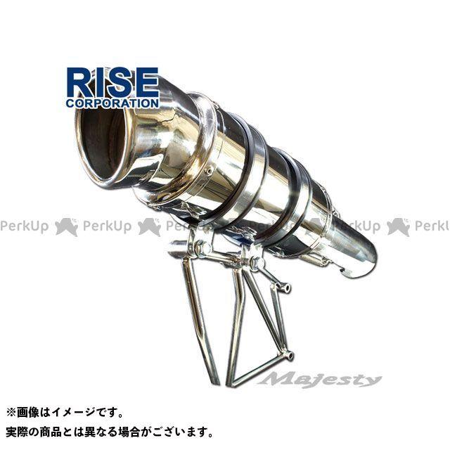 ライズコーポレーション RISE CORPORATION マフラー本体 送料無料激安祭 マフラー カチアゲマフラー マジェスティC SG03J 日本メーカー新品 マジェスティ 無料雑誌付き
