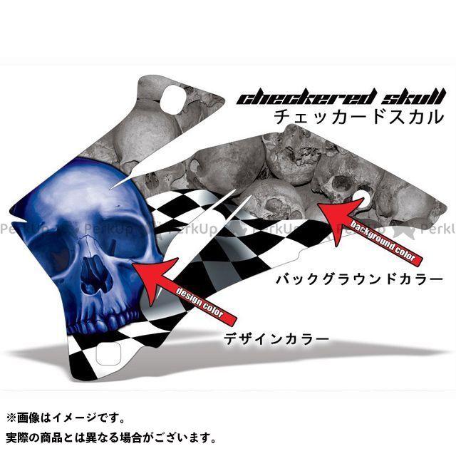 AMR ニンジャZX-6R 専用グラフィック コンプリートキット デザイン:チェカースカール デザインカラー:ブルー バックグラウンドカラー:レッド AMR Racing