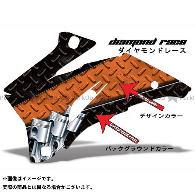 AMR ニンジャZX-6R 専用グラフィック コンプリートキット デザイン:ダイヤモンドレース デザインカラー:ピンク バックグラウンドカラー:オレンジ AMR Racing