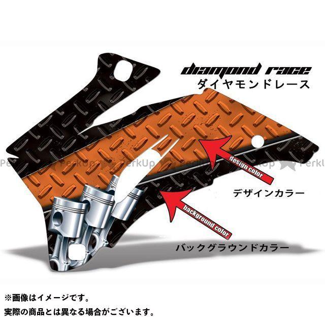 AMR ニンジャZX-6R 専用グラフィック コンプリートキット デザイン:ダイヤモンドレース デザインカラー:オレンジ バックグラウンドカラー:ブルー AMR Racing