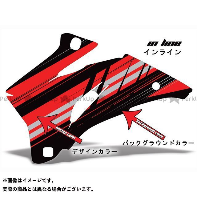 AMR ニンジャZX-6R 専用グラフィック コンプリートキット デザイン:インライン デザインカラー:ブラック バックグラウンドカラー:オレンジ AMR Racing