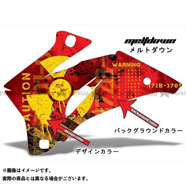 AMR ニンジャZX-6R 専用グラフィック コンプリートキット デザイン:メルトダウン デザインカラー:ブラック バックグラウンドカラー:グレー AMR Racing