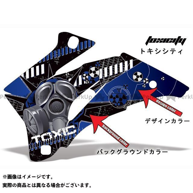 AMR ニンジャZX-6R 専用グラフィック コンプリートキット デザイン:トクシシティー デザインカラー:ブラック バックグラウンドカラー:ブルー AMR Racing