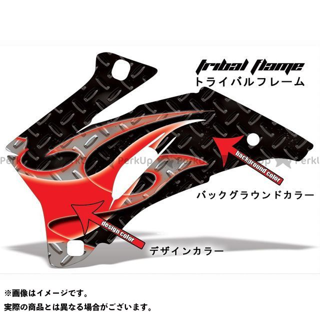 AMR ニンジャZX-6R 専用グラフィック コンプリートキット デザイン:トライバルフレーム デザインカラー:グレー バックグラウンドカラー:ブルー AMR Racing