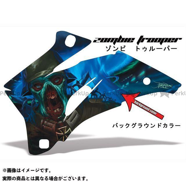 AMR ニンジャZX-6R 専用グラフィック コンプリートキット デザイン:ゾンビーツルーパー デザインカラー:選択不可 バックグラウンドカラー:ブルー AMR Racing