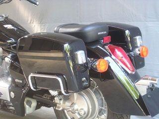 送料無料 旭風防 シャドウ750 シャドウクラシック400 ツーリング用ボックス チャンピオンバッグ AC-33