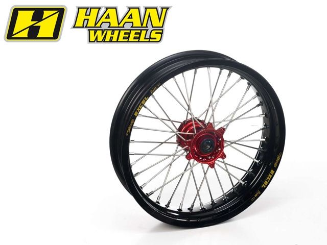 ハーンホイール HAAN WHEELS ホイール本体 Fモタードコンプリートホイール F3.50/16.5インチ シルバー イエロー