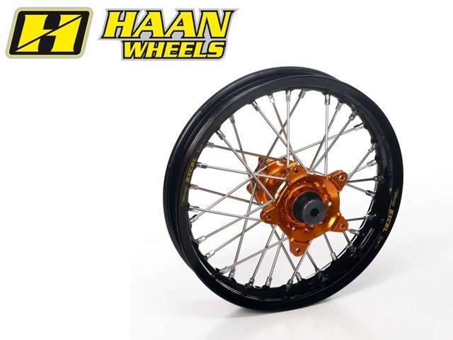 ハーンホイール HAAN WHEELS ホイール本体 Rモタードコンプリートホイール R3.50/17インチ ブラック ゴールド