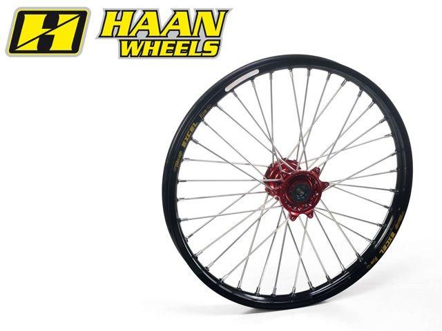ハーンホイール HAAN WHEELS ホイール本体 Fオフロードコンプリートホイール F1.60/21インチ レッド チタン