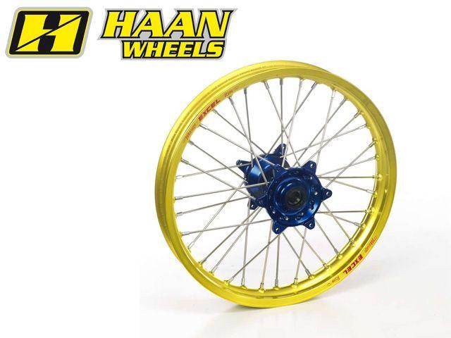 ハーンホイール HAAN WHEELS ホイール本体 Rオフロードコンプリートホイール R14インチ ブルー ゴールド