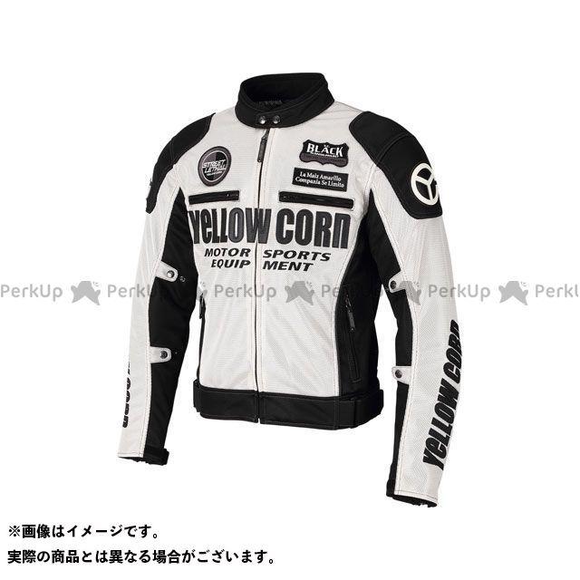 CORN 2021春夏モデル YB-1102 メッシュジャケット(アイボリー/ブラック) YeLLOW サイズ:LL 【エントリーで最大P19倍】イエローコーン