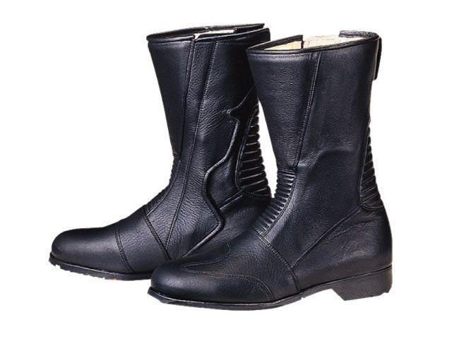送料無料 コミネ KOMINE ライディングブーツ スパジオ 520 ブーツ(ブラック) ワイド 24.5cm