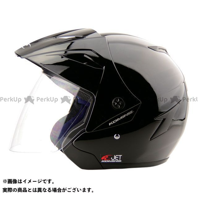 コミネ HK-165 エーラヘルメット ブラック 2XL(頭周63-64cm) KOMINE