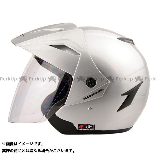 送料無料 コミネ KOMINE ジェットヘルメット HK-165 エーラヘルメット シルバー 2XL(頭周63-64cm)