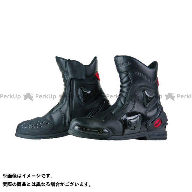 送料無料 コミネ KOMINE ライディングブーツ BK-067 プロテクトスポーツショートライディングブーツ(ブラック) 27.0cm