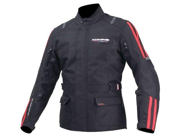 送料無料 コミネ KOMINE ジャケット JK-573 プロテクトウインタージャケットCE ブラック/レッド S
