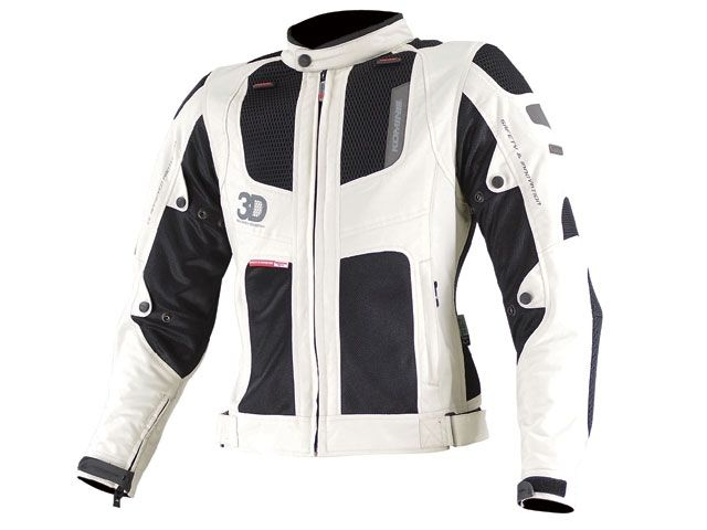 送料無料 コミネ KOMINE ジャケット 2015春夏モデル JK-081 ツアラーメッシュジャケット 3D アイボリー/ブラック M