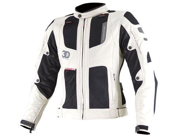 送料無料 コミネ KOMINE ジャケット 2015春夏モデル JK-081 ツアラーメッシュジャケット 3D アイボリー/ブラック 3XL